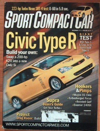 SPORT COMPACT CAR 2002 DEC - MUGEN CIVIC, TURBO NEON SRT-4 K20, CIVIC Si