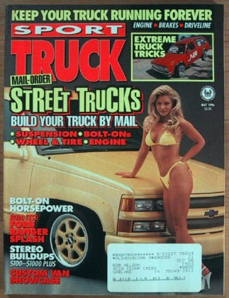 SPORT TRUCK 1996 MAY - RANGER SPLASH ' 96 SUPERCAB