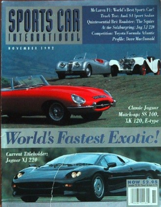 SPORTS CAR INTERNATIONAL 1992 NOV - MCLAREN, JAGUAR
