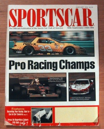 SPORTS CAR 1994 JAN - SEASON PREDICTIONS, SCOTT SHARP