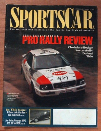 SPORTS CAR 1995 FEB - BINKS, FIRST WATKINS GLEN RACE