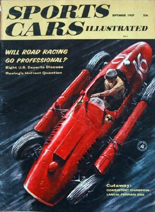 SPORTS CARS ILLUSTRATED 1957 SEPT - SPEEDSTER, 3.4 JAG*