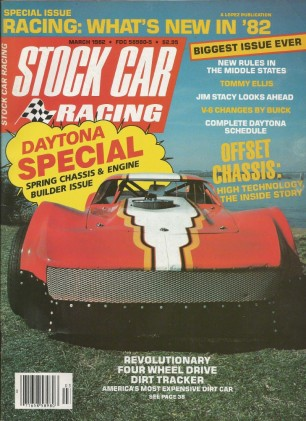 STOCK CAR RACING 1982 MAR - Gant, Waltrip, Ellis,Daytona Special,Offset Chassis