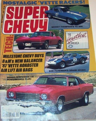 SUPER CHEVY 1987 SEPT - CORVETTE SPECIAL, MICKEY T.