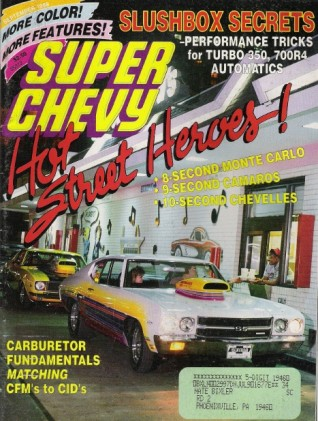 SUPER CHEVY 1989 SEPT - BUBBLETOP 409s, DX-1 RS/SS396