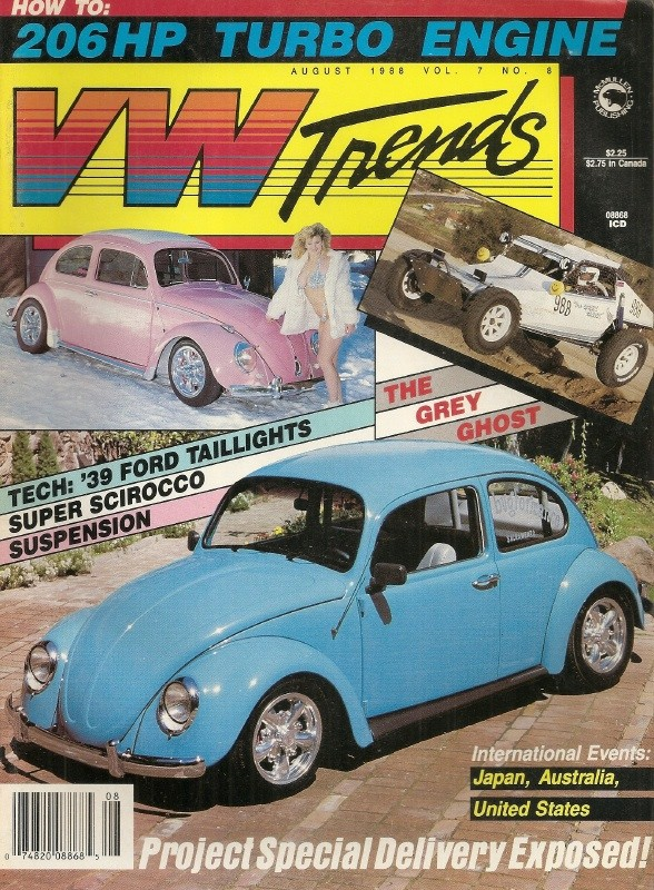 VW TRENDS 1988 AUG - 1939 FORD TAILLIGHTS, 206hp TURBO MILL MADE, NATIONALS  - VW TRENDS - JIM'S MEGA MAGAZINES