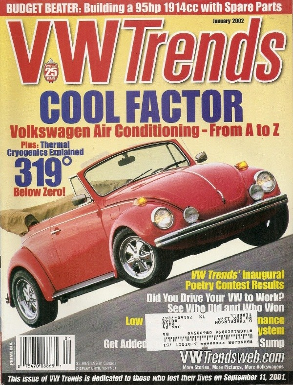 VW TRENDS 2002 JAN - A/C Spcl, BUDGET 1912cc BUILD-UP, FLAME THROWER  INSTALL - VW TRENDS - JIM'S MEGA MAGAZINES