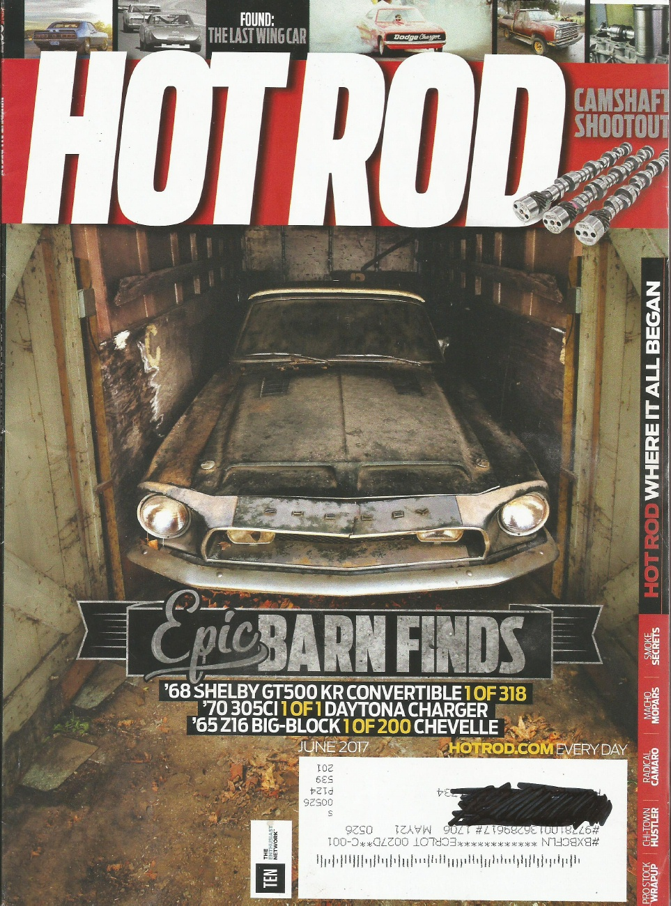 HOT ROD 2017 JUNE - LOST JEWELS, PRO STOCK MOTOR, RING Bros '69 CAMARO -  2010-2019 - JIM'S MEGA MAGAZINES