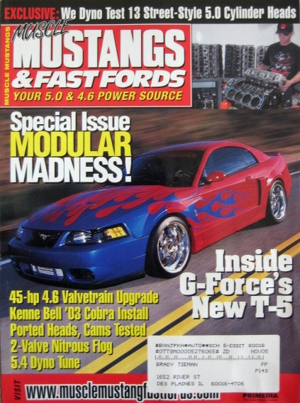 MUSCLE MUSTANGS & FAST FORDS 2003 SEPT - TRITON SWAP - MUSCLE MUSTANGS &  FAST FORDS - JIM'S MEGA MAGAZINES