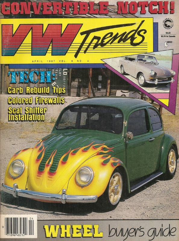 VW TRENDS 1987 APR - HOW TO PINSTRIPE, CARB BUILDUP, SHIFTER INSTALL - VW  TRENDS - JIM'S MEGA MAGAZINES