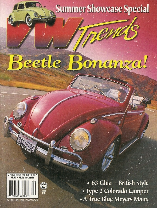 VW TRENDS 1997 SEPT - SAN FELIPE 250, SEAT COVER INSTALL, GTI DIFF UPGRADE  - VW TRENDS - JIM'S MEGA MAGAZINES